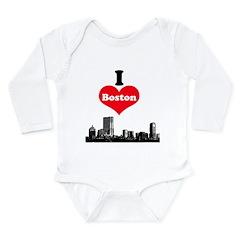 I Love Boston Long Sleeve Infant Bodysuit