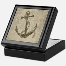 Vintage Anchor Keepsake Box
