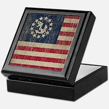 Vintage America Yacht Flag Keepsake Box