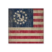 "Vintage America Yacht Flag Square Sticker 3"" x 3"""