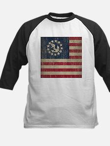 Vintage America Yacht Flag Kids Baseball Jersey