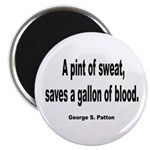 Patton Sweat & Blood Quote 2.25