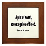 Patton Sweat & Blood Quote Framed Tile