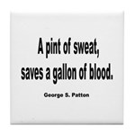 Patton Sweat & Blood Quote Tile Coaster