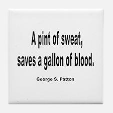 Patton Sweat & Blood Quote Tile Coaster