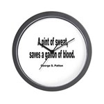 Patton Sweat & Blood Quote Wall Clock