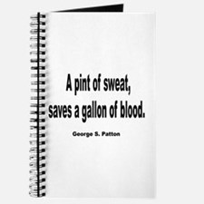 Patton Sweat & Blood Quote Journal
