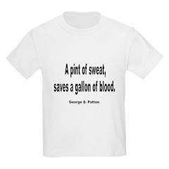 Patton Sweat & Blood Quote (Front) Kids T-Shirt