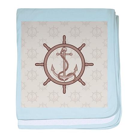 Stylish Anchor baby blanket
