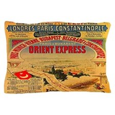 Orient Express Pillow Case