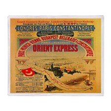 Orient Express Throw Blanket