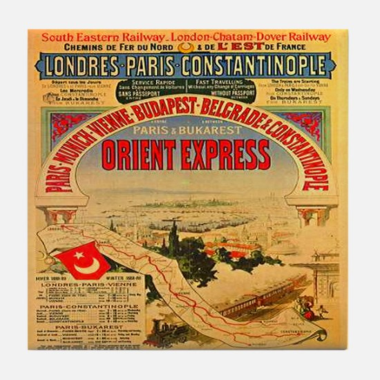 Orient Express Tile Coaster