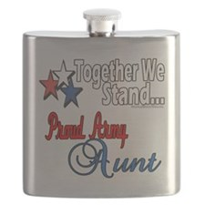 Proud Army Aunt Flask