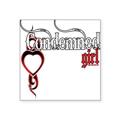 "bleedingCondemnedGirl copy.png Square Sticker 3"" x"