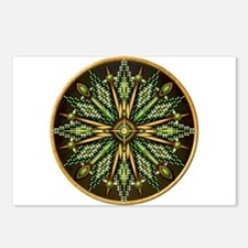 Native American Rosette 11 Postcards (Package of 8