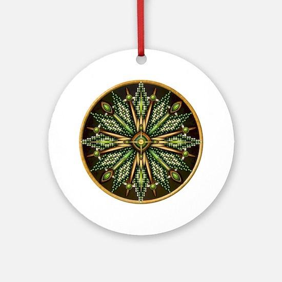 Native American Rosette 11 Ornament (Round)