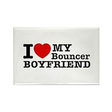 I Love My Bouncer Boyfriend Rectangle Magnet