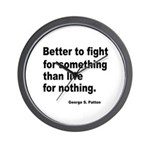 Fight for Something Wall Clock