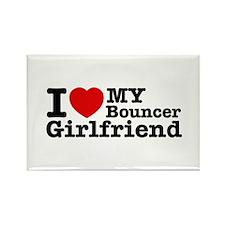 I Love My Bouncer Girlfriend Rectangle Magnet