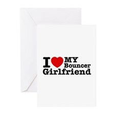 I Love My Bouncer Girlfriend Greeting Cards (Pk of