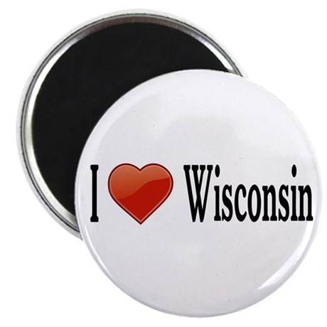 "I Love Wisconsin 2.25"" Magnet (10 pack)"