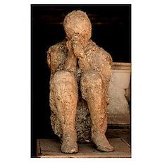 Body cast, Pompeii Poster