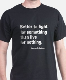 Fight for Something (Front) Black T-Shirt