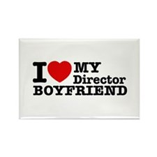 I Love My Director Boyfriend Rectangle Magnet