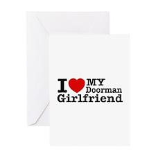 I Love My Doorman Girlfriend Greeting Card