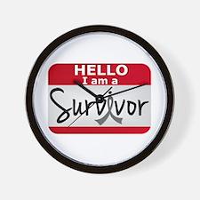 Brain Cancer Survivor 24 Wall Clock