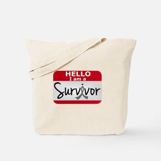 Brain Cancer Survivor 24 Tote Bag