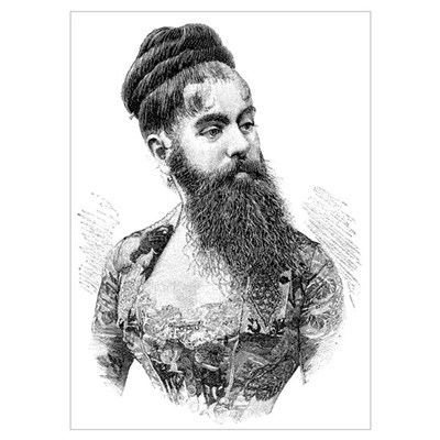 Bearded lady, 19th century Poster