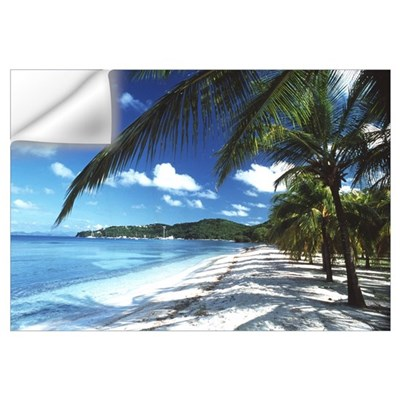 Beach with palm trees Wall Decal