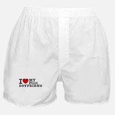 I Love My Pilot Boyfriend Boxer Shorts