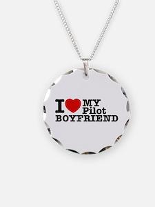 I Love My Pilot Boyfriend Necklace
