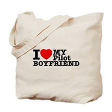 I Love My Pilot Boyfriend Tote Bag