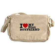 I Love My Pilot Boyfriend Messenger Bag