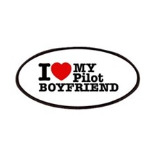 I Love My Pilot Boyfriend Patches