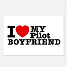 I Love My Pilot Boyfriend Postcards (Package of 8)