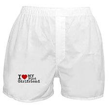 I Love My Pilot Girlfriend Boxer Shorts