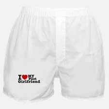 I Love My Pilot Girlfriend Boxer Shorts