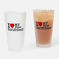I Love My Pilot Girlfriend Drinking Glass