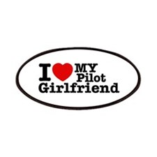 I Love My Pilot Girlfriend Patches