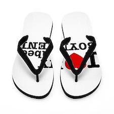 I Love My Seabee Boyfriend Flip Flops