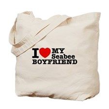 I Love My Seabee Boyfriend Tote Bag
