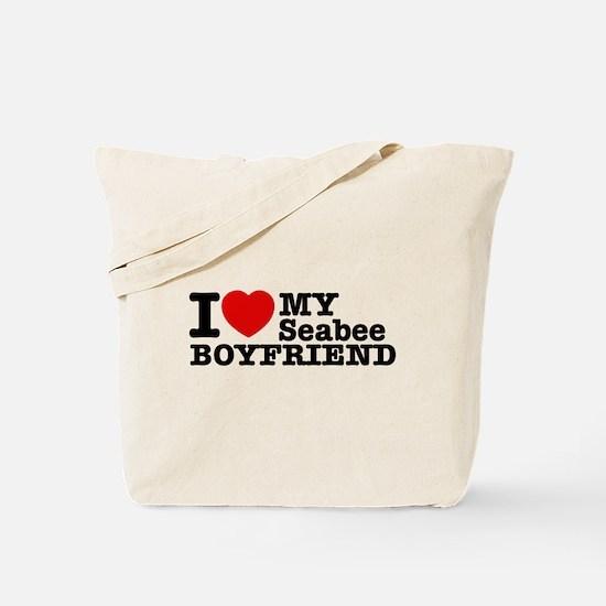 I Love My Seabee Boyfriend Tote Bag