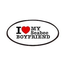 I Love My Seabee Boyfriend Patches