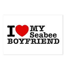 I Love My Seabee Boyfriend Postcards (Package of 8