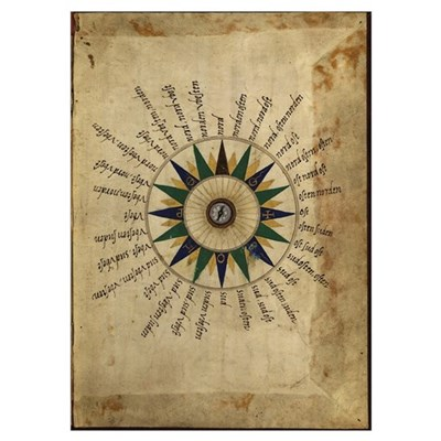 Atlas compass, 16th century Poster