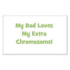My Dad Loves My Extra Chromos Sticker (Rectangular